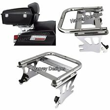Detachable Two-up Tour Pak Pack Mounting Luggage Rack Harley Touring 02-08