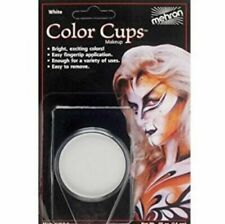Greasepaint Color Cups Mehron Clown White .5 oz Ships Free