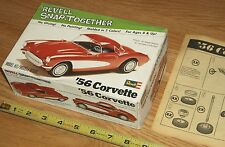 VINTAGE REVELL SANP-TOGETHER 1956 CORVETTE 1102>BOX & INSTRUCTIONS ONLY-NO KIT