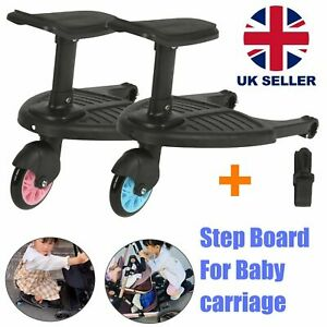 Kids Child Stroller Buggy Board With Seat Wheeled Standing Board For Pram Jogger