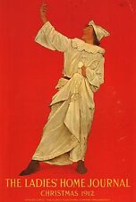 MAXFIELD PARRISH BOOK PRINT CLOWN-LIKE MAN CHRISTMAS COVER LADIES MAGAZINE