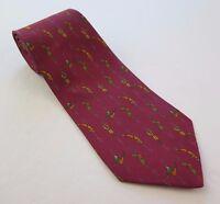 Salvatore Ferragamo 100% Silk Red Cirque du Soleil Necktie Made in Italy EUC