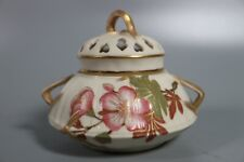 ANTIQUE ROYAL WORCESTER BLUSH IVORY POT POURRI WITH COVER - DATE 1889