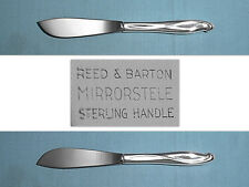 Reed & Barton Sterling Hollow Handle Master Butter ~ Silver Sculpture ~ No Mono