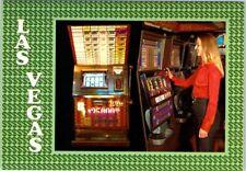 Slot Machine in Las Vegas Hotel Casino postcard Greetings From Interior Vu NEW b