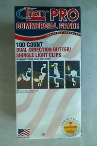 (100) Dual-Direction Gutter/Shingle Light Clips, Fits All Lights FREE SHIPPING!