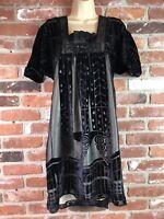 Olg & Maya Velvet Dress Tunic Black Size L