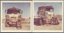 Vintage Photos Unusual Early 1960s Mack COE Truck Wreck 717429