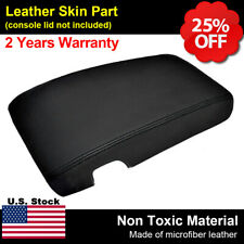 Leather Center Console Lid Armrest Cover For Chevy Camaro Firebird 97-02 Black