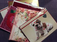 Papyrus Valentine Cards. Set Of 6, New