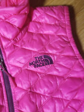 NWT $149 THE NORTHFACE Womens  XS  Thermoball Vest  Glo PINK/Grey 100%Authentic!