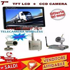 TELECAMERA WIRELESS COMPLETA DI MONITOR LCD 7 POLLICI COLORE