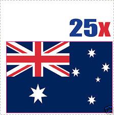 AUSTRALIE drapeau 25 stickers autocollants en vinyl et mélange de tailles