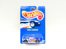 Vintage Hot Wheels 1993 Camaro Metallic Blue Silver UH Wheels #242 HTF NIP