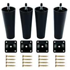 Plastic Sofa Legs 4 Packs with Mounting Plates Screws for US Made Furniture/Bed