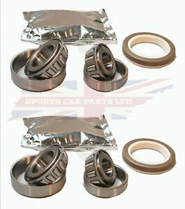 Pair of New Front Wheel Bearing Kits Triumph TR3 TR4 TR4A TR250 & TR6 1969-1976