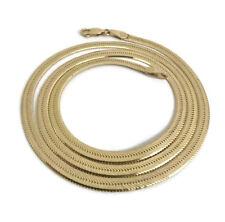 Italian 14K Yellow Gold Herringbone Chain Necklace, 20 Inch, 3.7 mm, 12.9 Grams