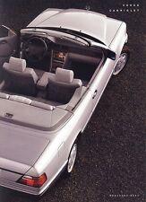 1992 Mercedes-Benz 300 CE Cabriolet 8-Page Dealer Sales Brochure