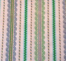 Cute As A Button Lalaloopsy Quilting Treasures BTY Blue Green Lace Print Stripe