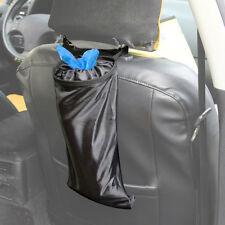 Car Seat Back Litter Trash Garbage Hang Bag Holder Container Storage Bin Black
