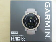 NEW * Garmin FENIX 6S PRO SOLAR GPS Watch * LIGHT GOLD * 010-02049-10