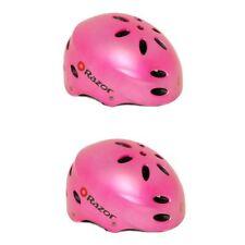 Razor V17 Child Multi Sport Skateboard Scooter Kids Safety Helmet, Pink (2 Pack)