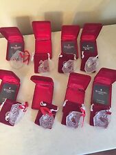 WATERFORD CRYSTAL 12 DAYS OF CHRISTMAS ANNUAL ORNAMENTS IN BOXES - 8 PIECES