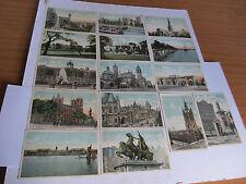 15 Antique Postcards of mainly London famous buildings & sights post Melbourne