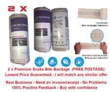 2 x Premium Snake Bite Bandage with Compression Indicator. 10cm x 4.5m Snakebite