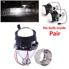 1 Pair LHD 2.5'' Car Mini HID Bi-xenon Projector Clear Lens Kit Headlight Shroud