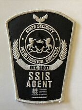 Police patch Pennsylvania State security investigations Services agent