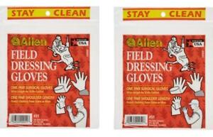 2 packages of Allen Wrist And Shoulder Length Field Dressing Gloves #51 NEW