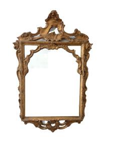 Specchiera  legno intagliato dorato - rococò barocchetto - Luigi XV - primi 900