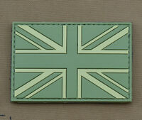 "PVC / Rubber Patch ""Subdued UK Flag OD"" with VELCRO® brand hook"