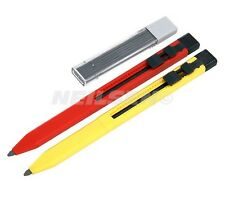 CT4053 2PC Carpenters Pencils Retractable Plastic Body With Sharpener 12 Refills