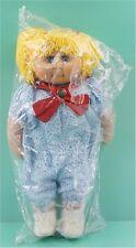 "Vintage 1980s David Craft Doll 20"" Tall Yellow Yarn Hair Vinyl & Cloth **NOS**"