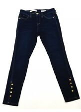 Pilcro And The Letterpress Women's Size 28 Ankle Snap Skinny Jeans Dark Wash
