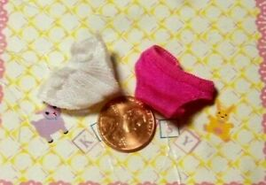 Kelly Small Doll Clothes *Lot of 2 Magenta White Underwear Panty/Panties* NEW