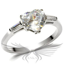2ct HEART SHAPED SOLITAIRE ENGAGEMENT RUSSIAN LAB CREATED SIM DIAMOND RING TK027