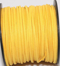 3M Genuine leather Suede Cord Beading Thread Lace Flat Jewelry Making 3mm