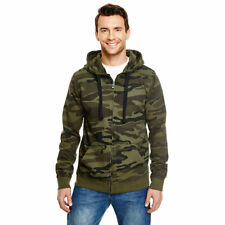 Green Camo Camouflage Zipper Hoodie All sizes