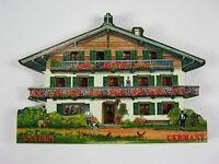 Bayern Haus Bavaria,3D großer Holz Magnet,Souvenir Germany Deutschland