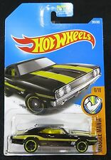 2017  Hot Wheels  Black  '69 Dodge Charger 500  Moon Eyes   Card #285    HW-42