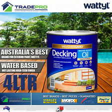 Wattyl Decking Oil PRO Water Based 4L Natural Timber Outdoor Wood Deck 4ltr