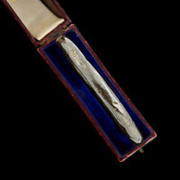 "Antique Vintage Victorian Sterling Silver English 8.25"" Repousse Bangle Bracelet"