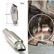 "New Car Exhaust Pipe Muffler Resonator Chrome Stainless Steel Burnt Tip 2""Inlet"