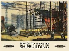 TRAVEL TRANSPORT PROMOTIONAL BRITISH RAILWAY SHIPBUILDING UK LV4426