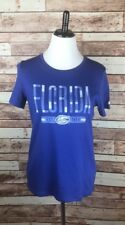 University Of Florida Gators Women's Medium Blue Short Sleeve V-Neck T-shirt Tee