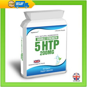5 HTP 200mg Double Strength 60 Rapid Release Capsules Serotonin, Stress, Anxiety