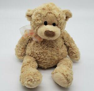 "Gund Teddy Bear ""Manni"" Golden Beige 13"" Plush Soft Curly Furry Floppy Loveable"